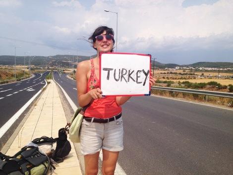femme autostop turquie